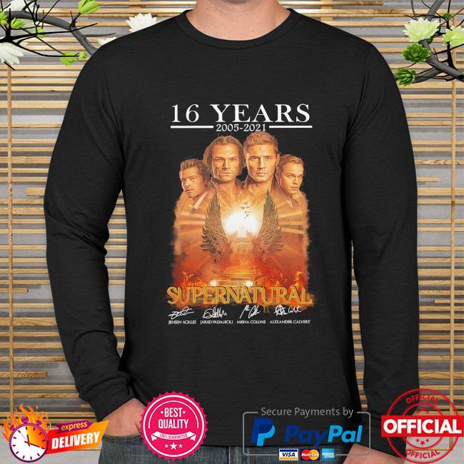 16 years 2005 2021 Supernatural signatures long sleeve