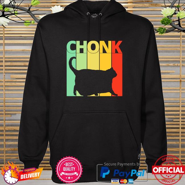 Black Cat Chonk vintage hoodie