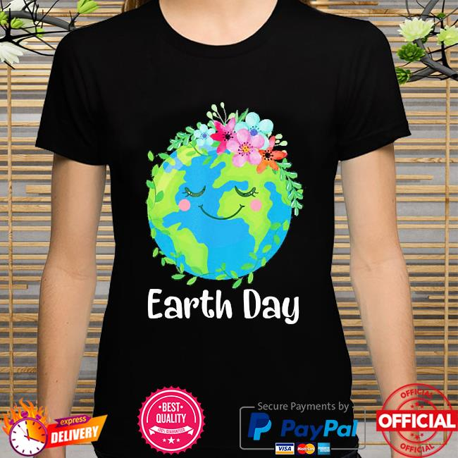 Happy earth day cute earth with floral earth day 2021 shirt