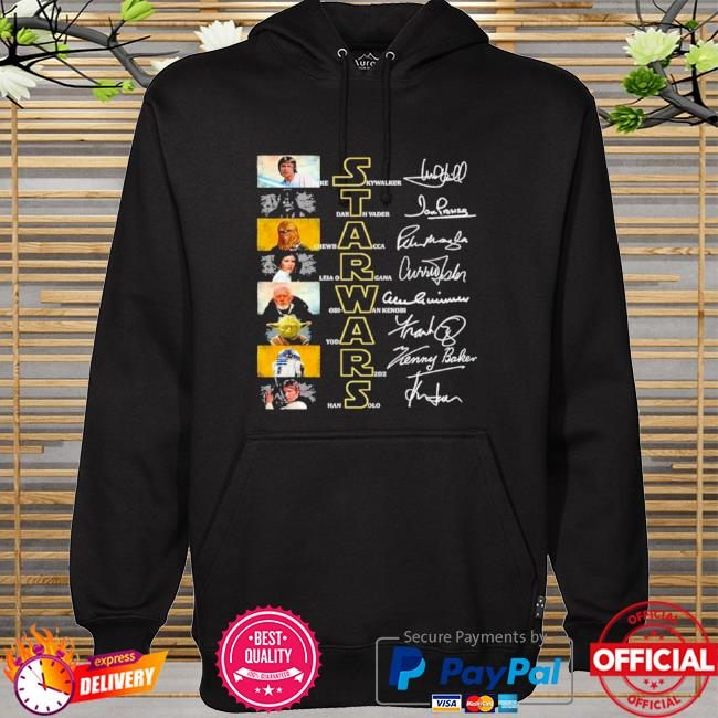 Official Star wars characters signature hoodie
