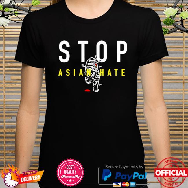 Official Stop asian hate bleeding tiger shirt