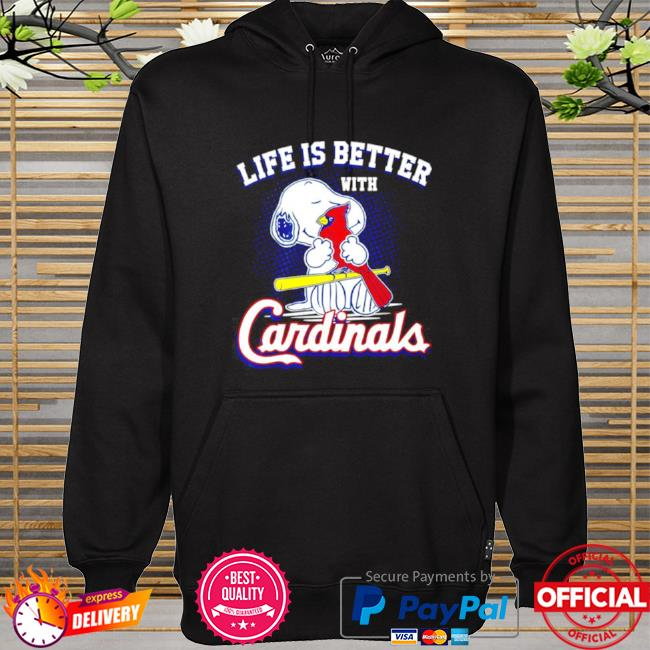 Official Snoopy life is better with st louis cardinals hoodie