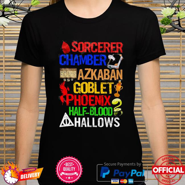 Harry potter sorcerer chamber azkaban goblet phoenix half blood hallows shirt