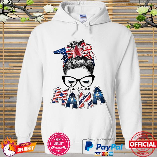 American Mama Hoodie white