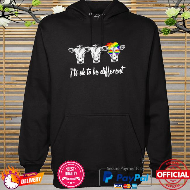 LGBT Cows it's ok to be different hoodie