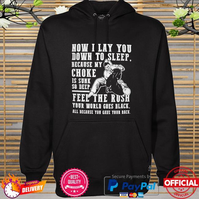 Now I lay you down to sleep because my choker hoodie