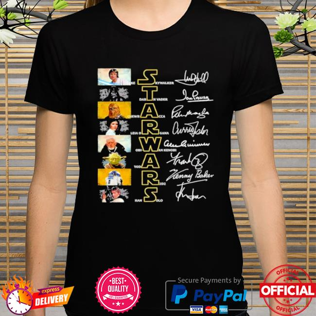 Official Star wars characters signature shirt