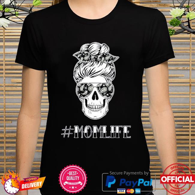 Messy bun tattooed mama mom life 2021 shirt