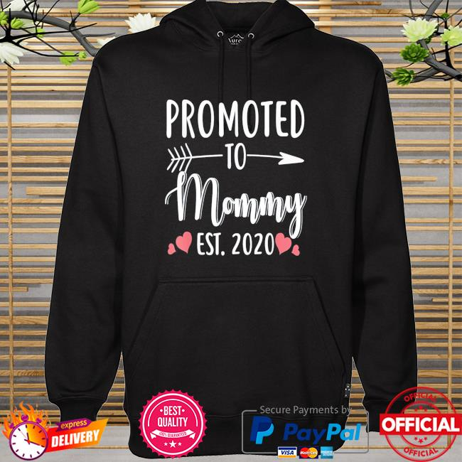 Mother's day promoted to mommy est 2021 hoodie