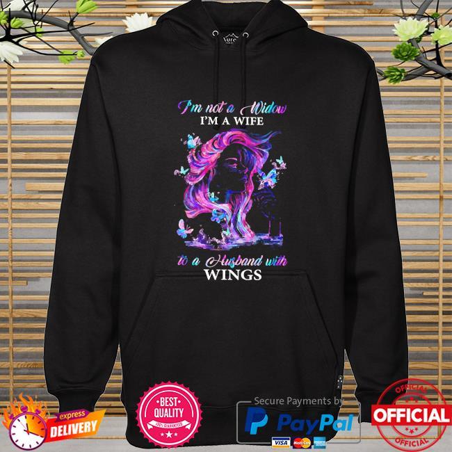 I'm not a window I'm a wife to a husband with wings hoodie