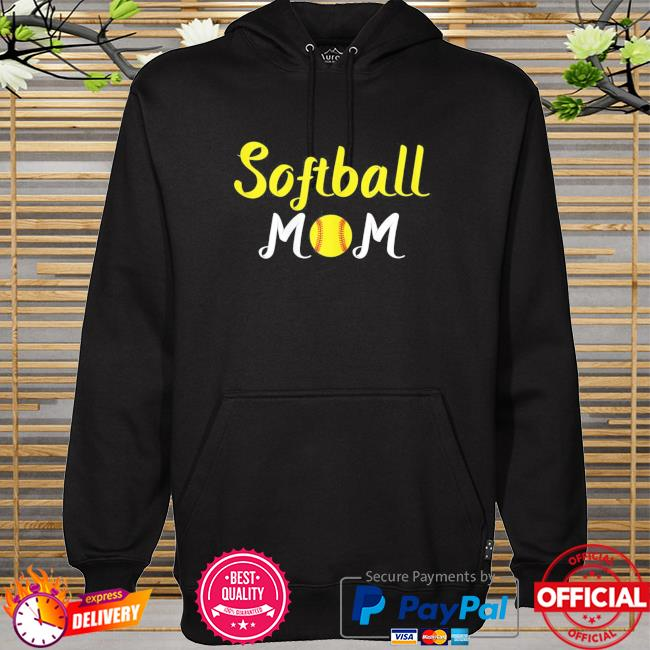 Softball momma baseball sport mothers day quote hoodie