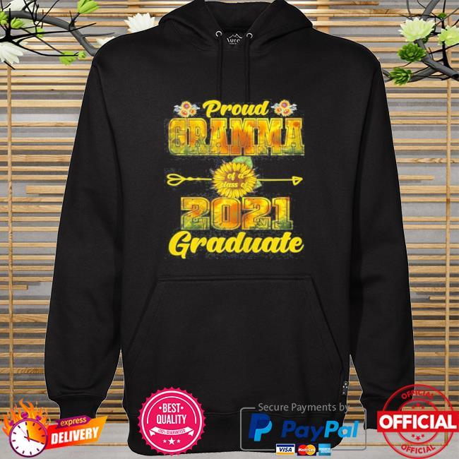 Sunflower proud grandma of a class of 2021 graduate hoodie