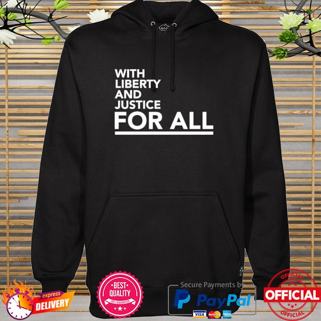 Timberwolf with liberty and justice for all hoodie