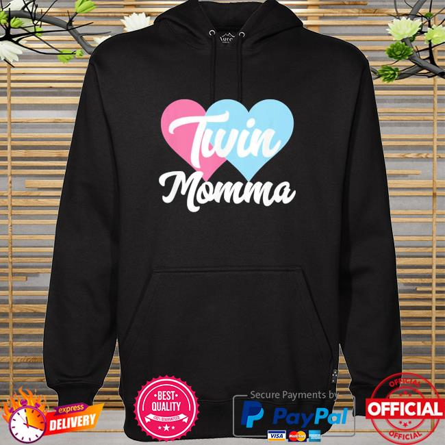 Twin momma mothers day fraternal twins mom hoodie