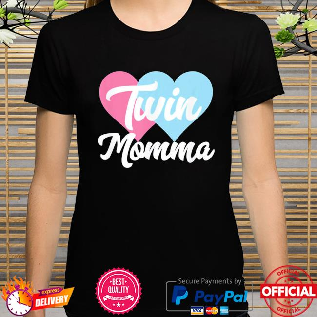 Twin momma mothers day fraternal twins mom shirt