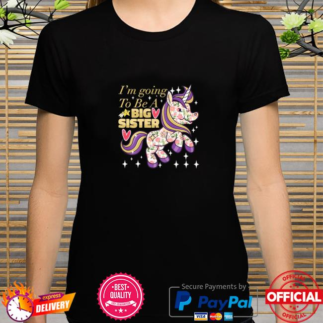 Unicorn I'm Gonna Be A Big Sister Gender Reveal Floral Shirt
