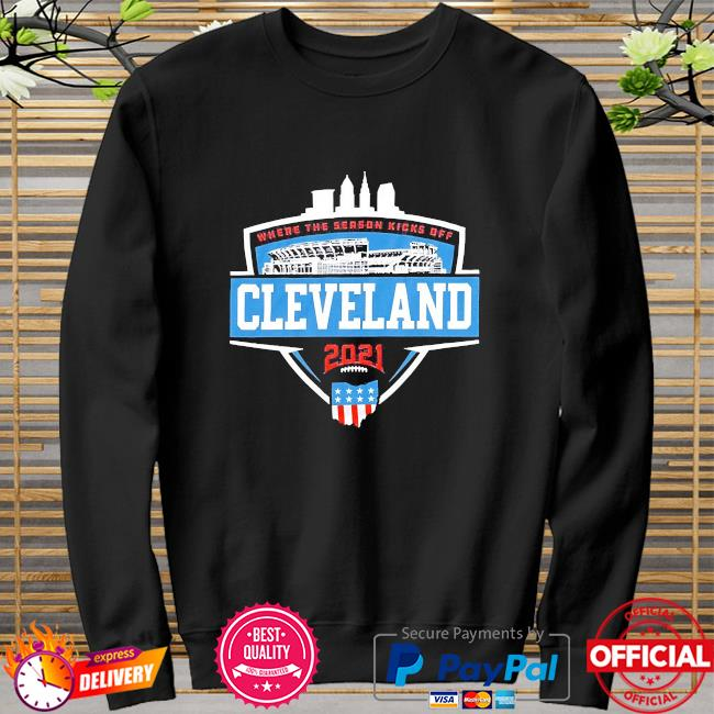 Where the season kicks off Cleveland sweater
