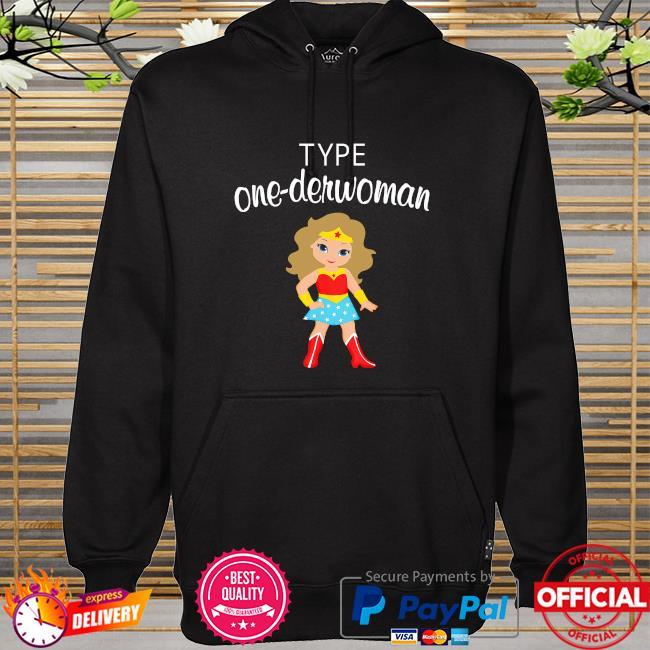 Wonder Woman body type one-derwoman hoodie