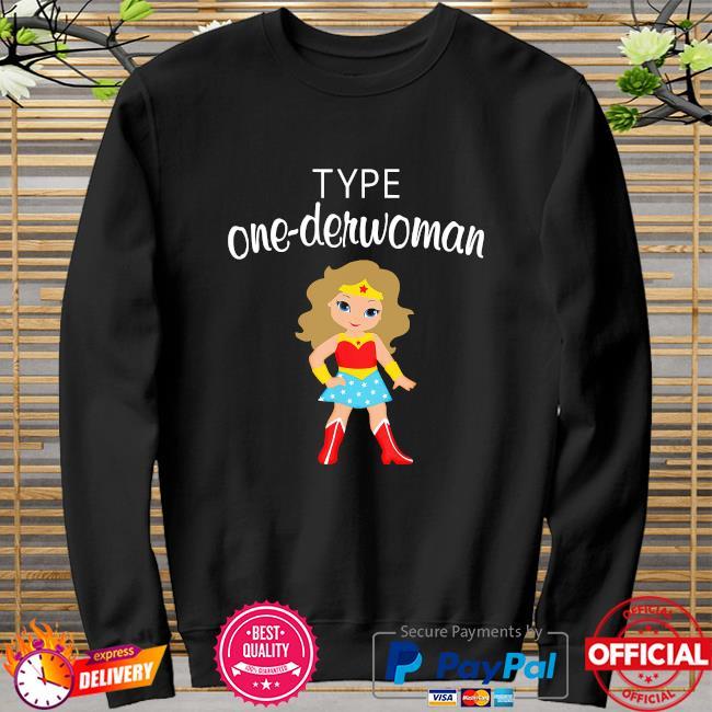 Wonder Woman body type one-derwoman sweater