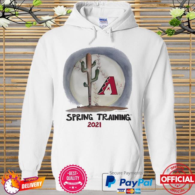 Arizona Diamondbacks Tiny Turnip Youth 2021 Spring Training Hoodie white