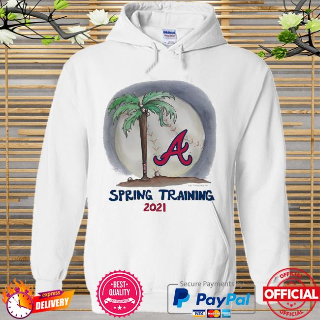 Atlanta Braves Tiny Turnip Youth 2021 Spring Training Hoodie white