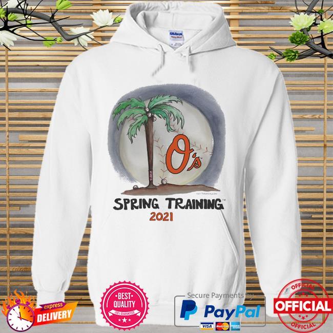 Baltimore Orioles Tiny Turnip Youth 2021 Spring Training Hoodie white