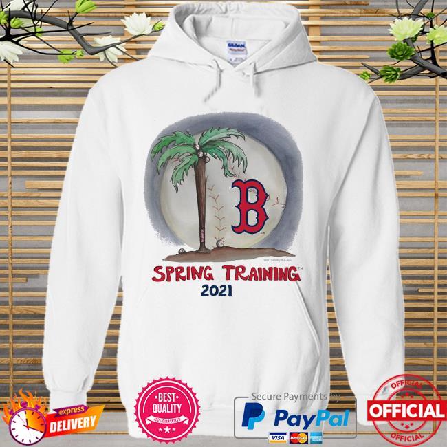 Boston Red Sox Tiny Turnip Infant 2021 Spring Training Hoodie white