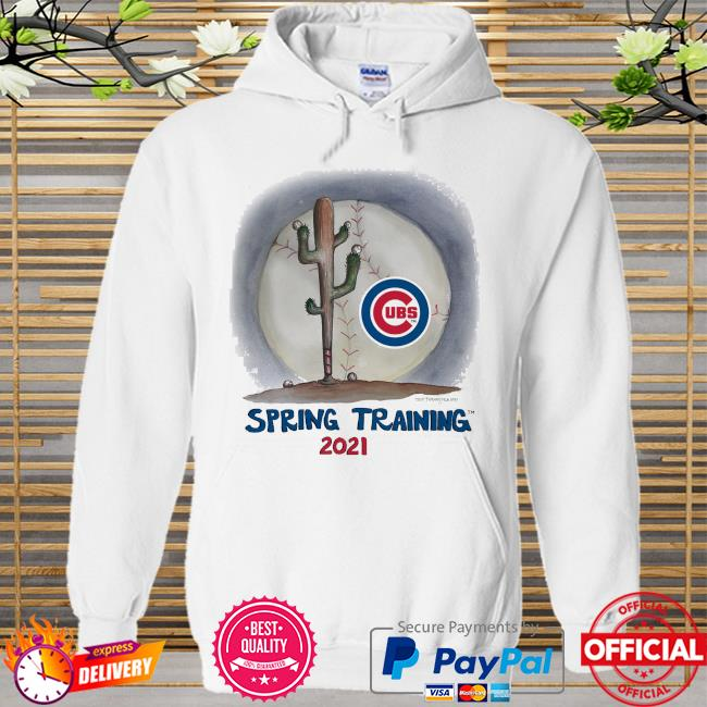 Chicago Cubs Tiny Turnip Youth 2021 Spring Training Hoodie white