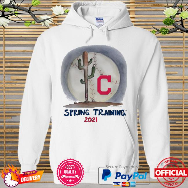 Cleveland Indians Tiny Turnip Infant 2021 Spring Training Hoodie white