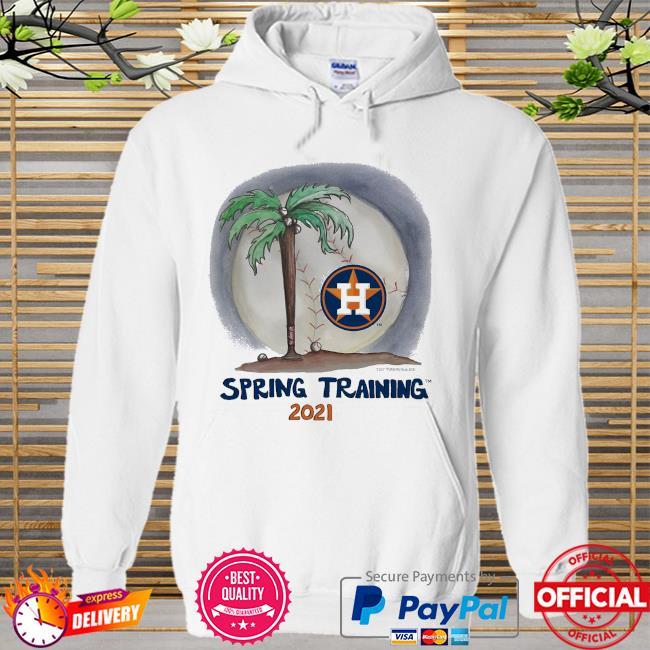 Houston Astros Tiny Turnip Youth 2021 Spring Training Hoodie white