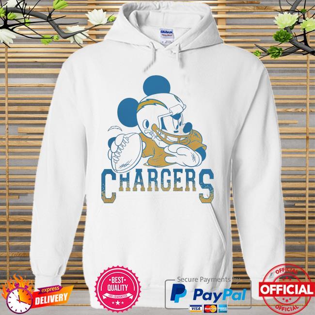 Los Angeles Chargers Disney Mickey Hoodie white