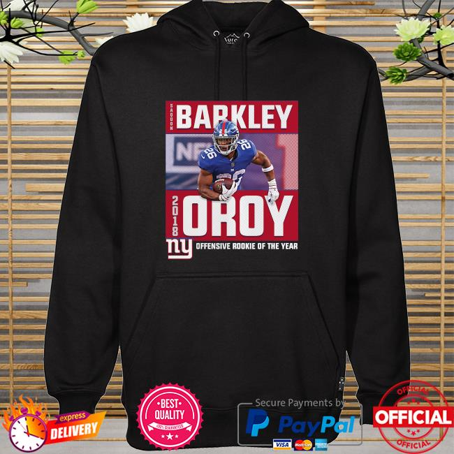 Saquon Barkley New York Giants Offensive rookie of the years hoodie
