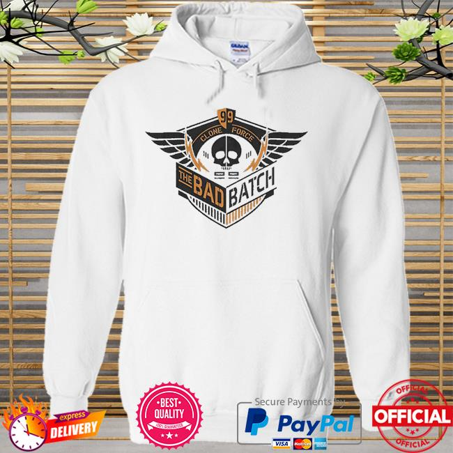 Star Wars The Bad Batch Clone Force 99 skull Hoodie white