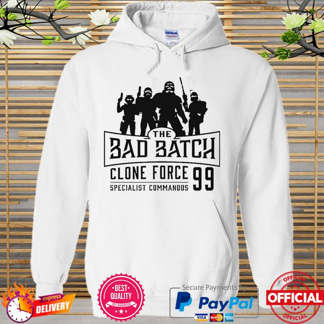 Star Wars The Bad Batch Clone force 99 specialist commandos Hoodie white