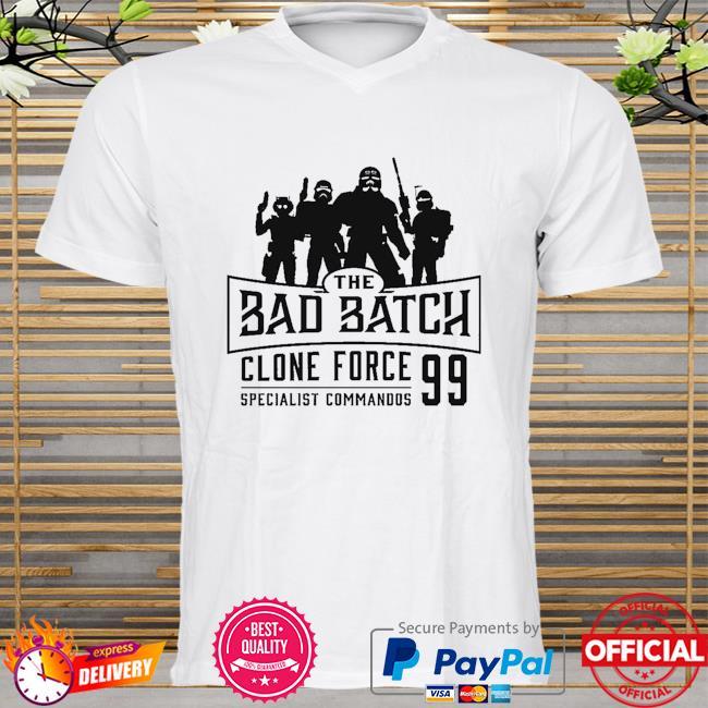 Star Wars The Bad Batch Clone force 99 specialist commandos shirt