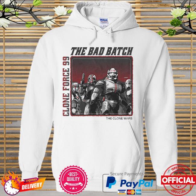 Star Wars The Bad Batch Clone force 99 The clone wars Hoodie white