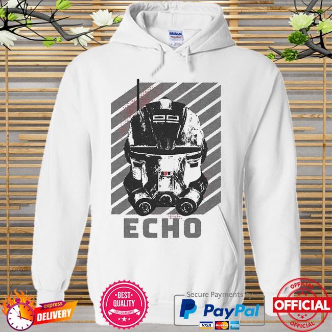 Star Wars The Bad Batch Echo Hoodie white