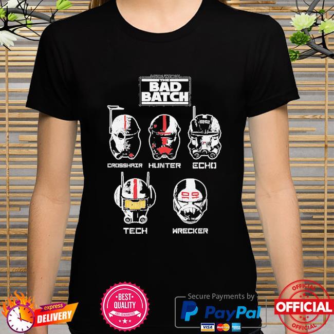 Star Wars The Bad Batch Helmet Group shirt