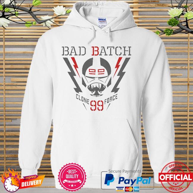 Star Wars The Bad Batch Lightning Clone Force 99 Hoodie white