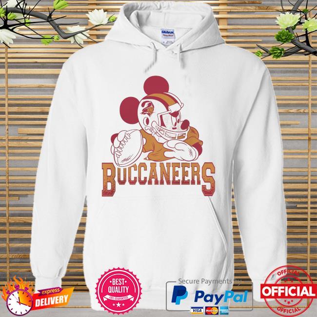 Tampa Bay Buccaneers Disney Mickey Hoodie white