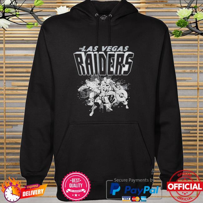 The Las Vegas Raiders Marvel hoodie