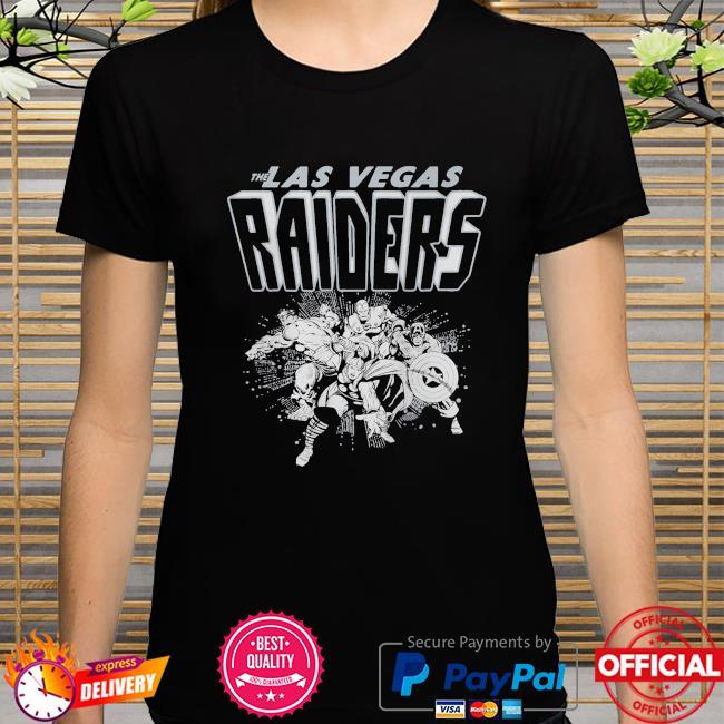 The Las Vegas Raiders Marvel shirt