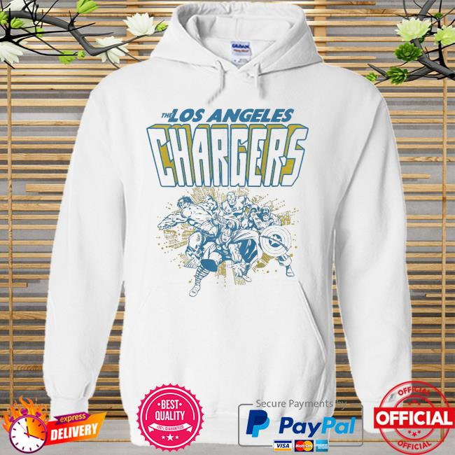The Los Angeles Chargers Marvel Hoodie white
