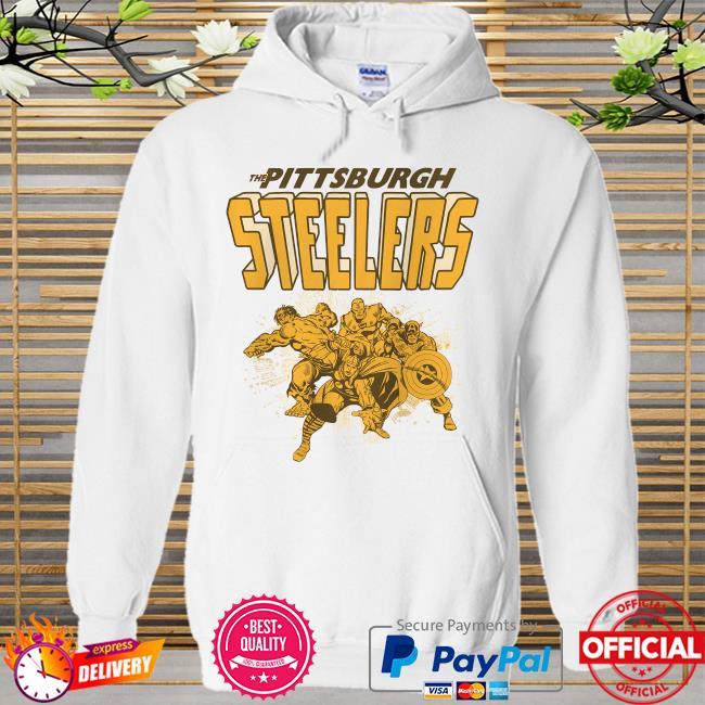 The Pittsburgh Steelers Marvel Avengers Hoodie white