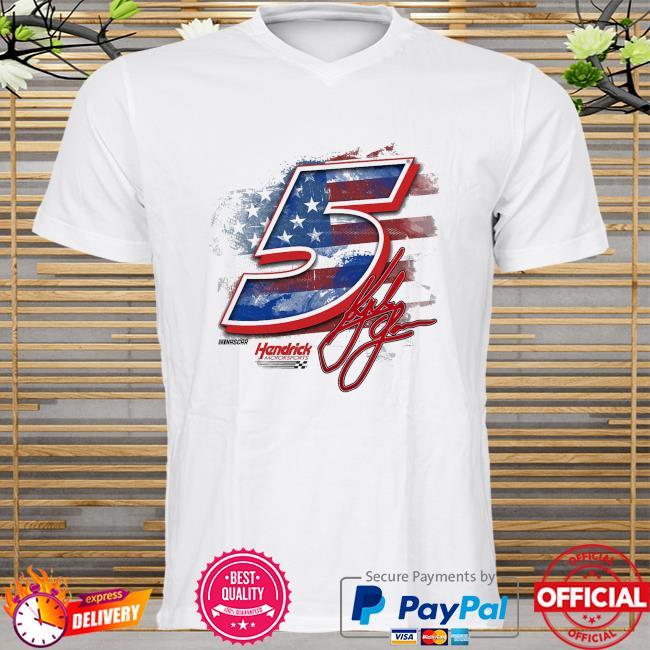 Kyle larson hendrick motorsports team collection old glory t-shirt