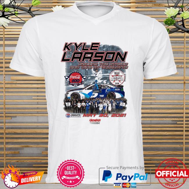 Kyle Larson Checkered Flag 2021 Coca-Cola 600 Race Win Shirt