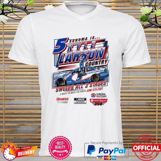 Kyle Larson Checkered Flag 2021 Toyota Save Mart 350 Race Win shirt