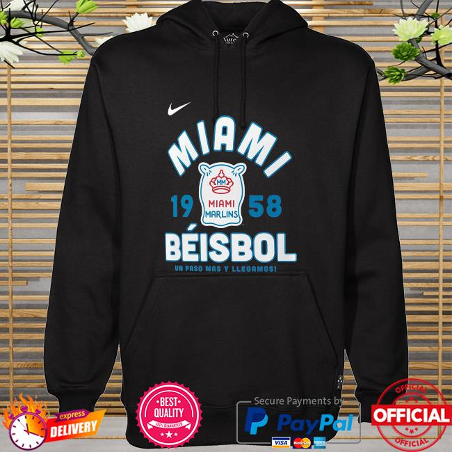 Miami marlins nike 2021 city connect graphic hoodie