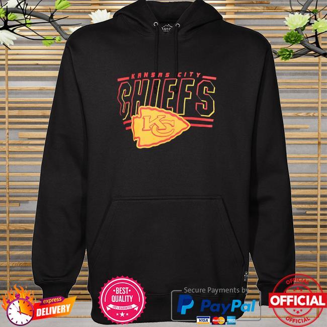 Junk food clothing Kansas city Chiefs black team slogan short sleeve fashion hoodie