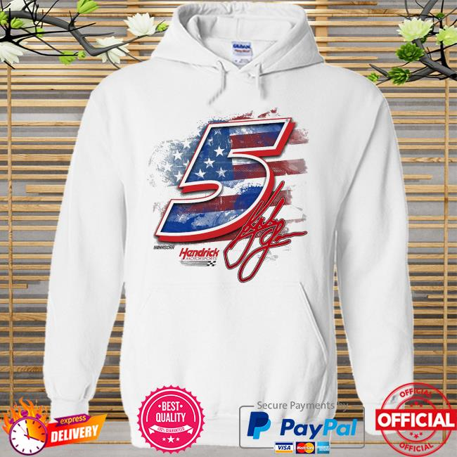 Kyle larson hendrick motorsports team collection old glory t-s Hoodie white